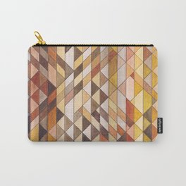 Triangle Pattern Fall Colors Carry-All Pouch