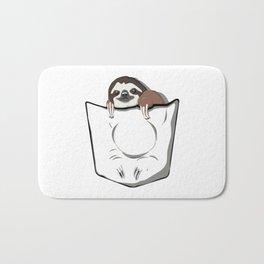 Sloth Pocket Bath Mat