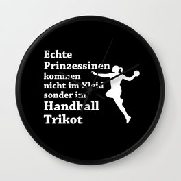Real Princesses Play Handball Wall Clock