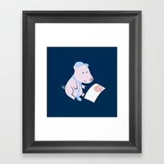 That'll Do Pig. Framed Art Print