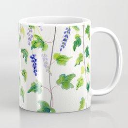 Ivy and Lavender Watercolor Coffee Mug
