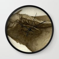 buffalo Wall Clocks featuring Buffalo by Vito Quintans