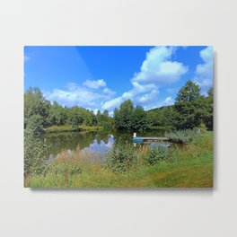 At the fairytale pond | waterscape photography Metal Print