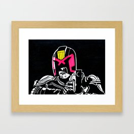 Marked for justice Framed Art Print