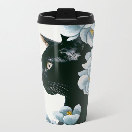 cat 2 Metal Travel Mug