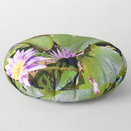 Water Lily - Nymphaea sp. Floor Pillow