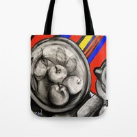 fruit Tote Bags featuring Fruit by Helen Syron