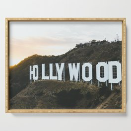 Hollywood Sign (Los Angeles, CA) Serving Tray
