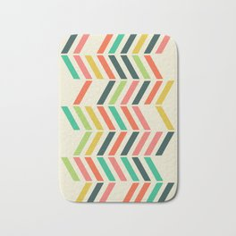 Color line pattern Bath Mat