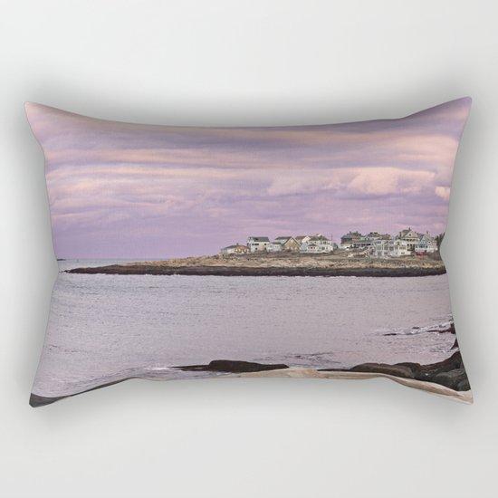 pigeon cove sunset Rectangular Pillow