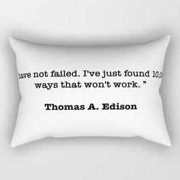Thomas A. Edison Quote Rectangular Pillow