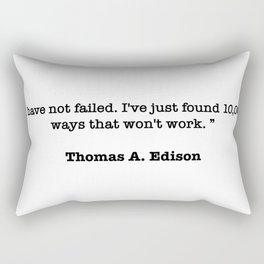 Thomas A. Edison Quote Rectangular Pillow