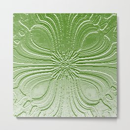 Emerald Bas Relief Metal Print