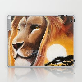 Animal - Lion - Quiet strength - by LiliFlore Laptop & iPad Skin