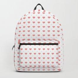 Pink Hearts Pattern Big Little Backpack