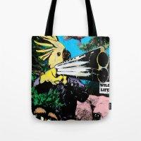 wildlife Tote Bags featuring Wildlife by Pierre-Paul Pariseau