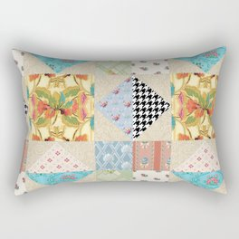 Vintage Country Style Evening Star Quilt Pattern Rectangular Pillow
