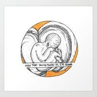 Nude in Orange Art Print