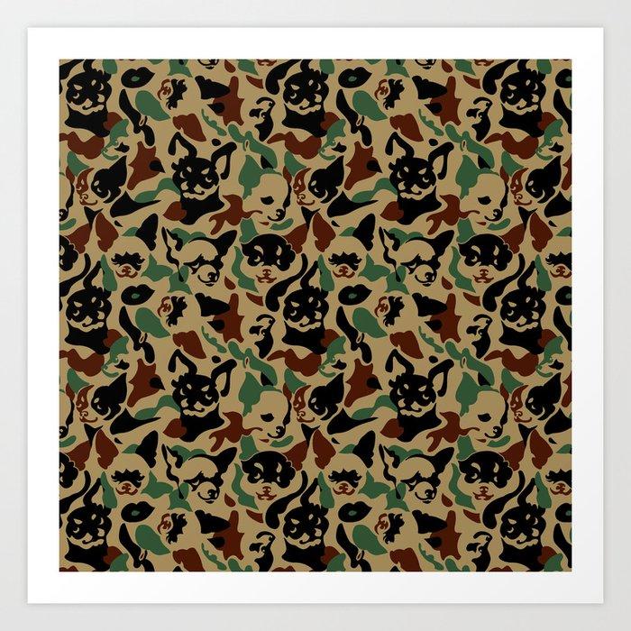 Chihuahua Camouflage Art Print