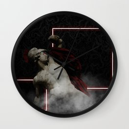 Warrior Pose Wall Clock