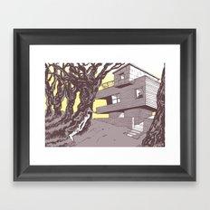 The house Framed Art Print