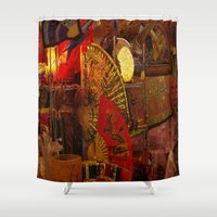 asian Shower Curtains featuring Asian Art by Neville Hawkins