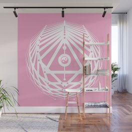 Radiant Abundance (pink-white) Wall Mural
