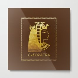 Cleopatra, the last active ruler of the Ptolemaic Kingdom of Egypt Metal Print