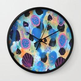 Seashells Abstract Painting Wall Clock