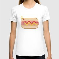 hot dog T-shirts featuring hot dog by Alba Blázquez