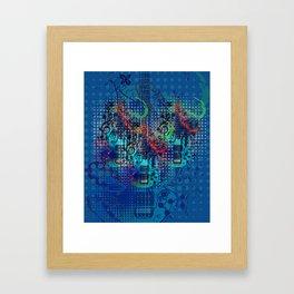 Modern guitar grunge Framed Art Print