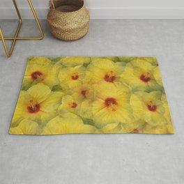 Yellow Hibiscus Rug