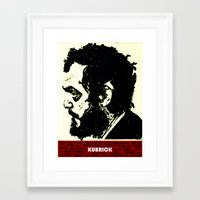 kubrick Framed Art Prints featuring Kubrick Portrait by Gafoor