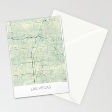 Las Vegas Map Blue Vintage Stationery Cards
