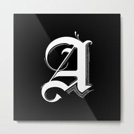 Letter A Metal Print