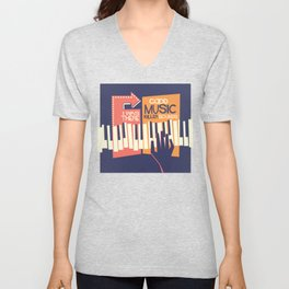 For the Love of Music Unisex V-Neck