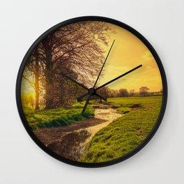Dawn On The Dearne Wall Clock