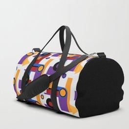 Bauhaus shapes and modern colors Duffle Bag