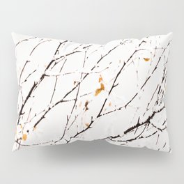 Snowy birch twigs and leaves #society6 #decor #buyart Pillow Sham
