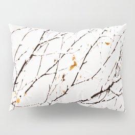 Snowy birch twigs and leaves #decor #society6 #buyart Pillow Sham