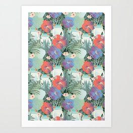 frog garden Art Print