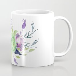 Posy GREEN AND VIOLET Painted - bouquet, nosegay, flower Coffee Mug