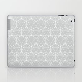 Icosahedron Soft Grey Laptop & iPad Skin