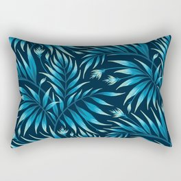 Waikiki Palm - Petrol Blue Rectangular Pillow