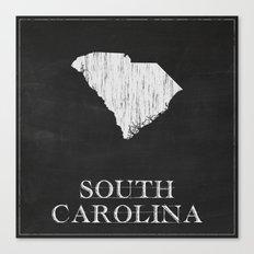 South Carolina State Map Chalk Drawing Canvas Print