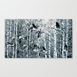 Off They Went Canvas Print
