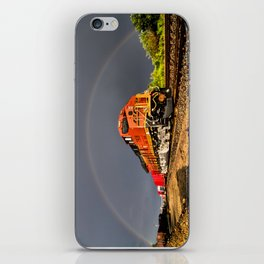 BNSF Train with Rainbow at Henrietta Missouri iPhone Skin