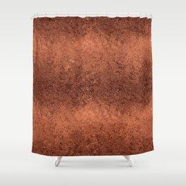 Light Textured Copper Rose Foil Shower Curtain