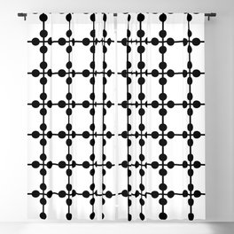 Droplets Pattern - White & Black Blackout Curtain