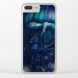 jellyfish night Clear iPhone Case